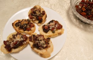 Bruschettta with Sun-Dried Tomatoes and Capers–Use with GF Baguettes