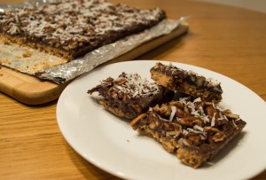 Toffee, Nutty Bars with Baking Mix