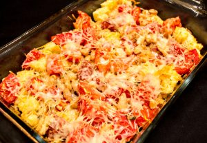 Tomato Casserole with White Beans and Basil