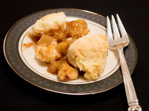 Apple Cobbler and Sweet Sauce
